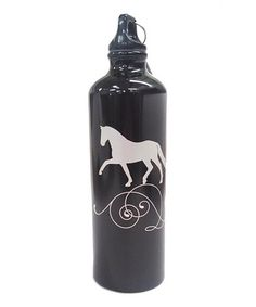 Love this Black & Silver Trotting Horse Water Bottle by Kelley and Company on #zulily! #zulilyfinds