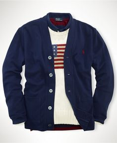 Ralph Lauren Kids Sweater, Boys V-Neck Cardigan - Kids Boys 8-20 - Macy's