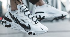 "How to Get Your Hands on this Limited Custom Nike React Element 55 ""Anarchy"" Cool Nike Shoes, Nike Shoes Outlet, Nike Shoes Men, Streetwear, Nike Shoes Huarache, Sneakers Nike, Custom Sneakers, Custom Shoes, Sweatshirts Nike"