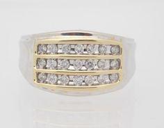 0.50 CARAT T.W. MAN'S ROUND CUT DIAMOND CLUSTER RING 10K WHITE GOLD #28130 #Cluster
