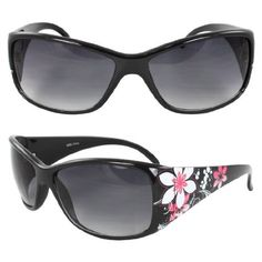 MLC Eyewear TU9255BKPB Rectangle Fashion Sunglasses Black Frame in Flower Pattern Design Purple Black Lenses. MLC Eyewear. $8.99. UV400 Lens Technology, absorbing over 99% of harmful UVA and UVB spectrums.. Extremely stunning and stands out fashionably.. FREE 1x leather protective pouch & FREE 1x micro fiber cloth. Lens 60mm x Bridge 20mm x Arms 123mm. Smart design to fit your face curve. Absolute comfort for everyday wear.