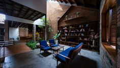 Uncle's House, Vietnam, 3 Atelier, interior garden, natural ventilation, green architecture, vegetables, traditional building materials, traditional architecture