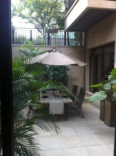 outside terrace next to study