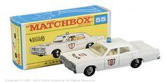 Matchbox Regular Wheels No.55d Mercury Park Lane Police Car.