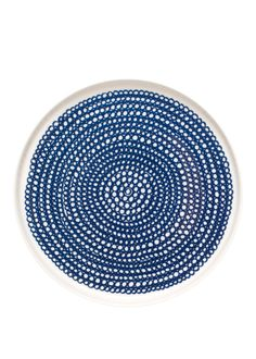 Marimekko Siirtolapuutarha Blue and White Plate modern dinnerware Marimekko, Ceramic Plates, Ceramic Pottery, Ceramic Art, Ceramic Painting, Modern Dinnerware, Blue Dinnerware, Porcelain Pens, Painted Porcelain