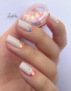 Essie Urban Jungle + Born Pretty Neon Glitter