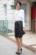 Street Chic ¦ Vogue UK ¦ London ¦ Derek Lam Top ¦ Lanvin Skirt ¦ Celine Bag ¦ Saint Laurent Shoes