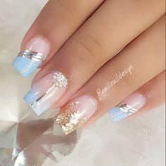 Cute Acrylic Nail Designs, Elegant Nail Designs, Cute Acrylic Nails, Nail Art Designs, Gel Nails, Pretty Nail Art, Cute Nail Art, Stylish Nails, Trendy Nails