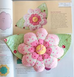 Roseann's pin cushion on PamKittyMorning, via Flickr  Pattern in the Quilts and More magazine, summer issue