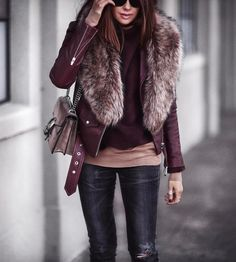 Looking for the best casual winter outfits to copy? the best cold weather casual winter outfits for women that still look good! Casual Winter Outfits, Fall Outfits, Look Fashion, Winter Fashion, Fashion Beauty, Mode Outfits, Fashion Outfits, Grunge Goth, Fur Jacket