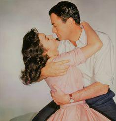 Jennifer Jones and Gregory Peck for The Man in the Grey Flannel Suit, 1956 Jennifer Jones, Flannel Suit, Grey Flannel, Gregory Peck, The Golden Years, Classic Movie Stars, Movie Couples, Ava Gardner, Costume