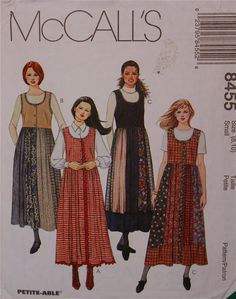 056d49f5eb70 Items similar to Jumper, Patchwork Gored Skirt - 1990's - McCall's Pattern  8455 Uncut Size 8 - 10 Bust 31.5 - 32.5