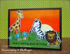 Lawnscaping Challenge: BIRTHDAY CELEBRATION: IT'S OUR 1O0TH CHALLENGE SO WE ARE PARTYING - Sponsored by Lawn Fawn