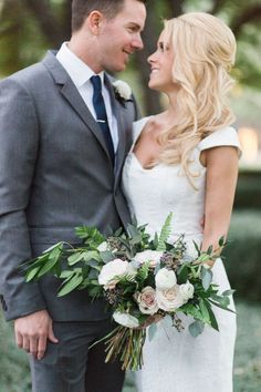 Free Flowing Bouquet | Brittany and Ryan's Garden Wedding | Posh Floral Designs