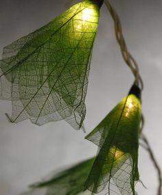 Look what I found on #zulily! Green Leaf String Lights #zulilyfinds