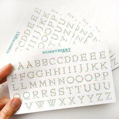 Decorative Floral Alphabet Motif Sticker Art Sheet