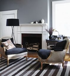 Layered Fall Living Room // Photographer Michael Graydon // House & Home October 2009 issue
