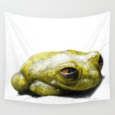 African Frog Wall Tapestry