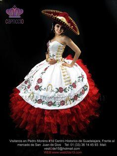 Mariachi Quinceanera Dress, Champagne Quinceanera Dresses, Mexican Quinceanera Dresses, Mexican Dresses, Quinceanera Ideas, 15 Anos Dresses, 15 Birthday Dresses, Vestido Charro, Mexico Dress