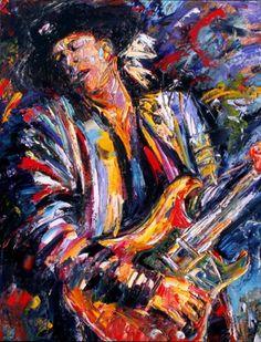 Stevie Ray Vaughan playin' live -- Debra Hurd