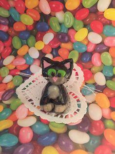 Kitty cat birthday handmade polymer clay caketopper cake topper wedding valentine catlover gift  kitten  charm sculpture art figurine by CatsClayandMore on Etsy https://www.etsy.com/listing/234216278/kitty-cat-birthday-handmade-polymer-clay