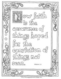 Coloring Pages For Kids By Mr Adron Printable Hebrews 111 Page