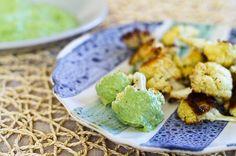 Asado coliflor con aguacate Cilantro-Dip | Life & Food