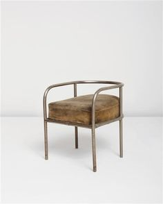 View Armchair by René Herbst sold at Design on 14 December 2011 New York. Art Deco Furniture, Design Furniture, Furniture Outlet, Metal Furniture, Cheap Furniture, Discount Furniture, Chair Design, Home Furniture, Modern Furniture