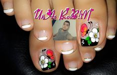 189 Me gusta, 1 cmentarios - UñAs RoB!¡N Na¡ls (@unas_robin_nails) en Instagram Toe Nail Art, Toe Nails, Paint Designs, Nail Art Designs, Nail Picking, Cute Pedicures, Pedicure Designs, Manicure, Polish