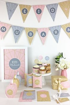 The Holy Month of Ramadan has reached to the end. It's time to decorate your home to welcome Eid! Remember the time when you used to be all excited about Eid? Let's bring the excitement back! Eid Banner, Eid Mubarak Banner, Eid Mubarak Greetings, Ramadan Mubarak, Eid Cupcakes, Eid Cake, Eid Crafts, Ramadan Crafts, Ramadan Sweets