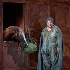 Ambrogio Maestri as Falstaff, horse as himself. Photo: Ken Howard/Metropolitan Opera /The Metropolitan Opera's new production, Verdi's Falstaff,  to be broadcast on December 14 2013. - I will be listening to this :-)
