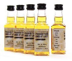 100 Custom Prohibition Ends Jack Daniels Mini Bottle Labels Wedding Favors Thank You Whiskey Bachelorette Bachelor Party Gifts