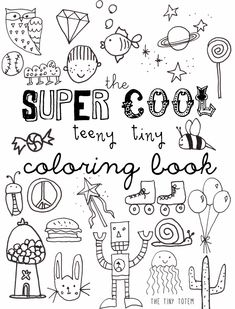 Free Printable Mini Coloring Book from The Tiny Totem