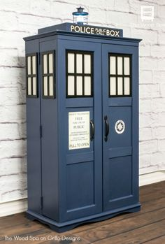 How To Turn A Cabinet into A Dr Who Tardis • Grillo Designs