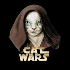 Cat Obi Wan (Obi-Wan Kenobi) - Cat Wars by Detullio Pasquale. Prints and other items available at Obi Wan, Crazy Cat Lady, Crazy Cats, Cat People, Buy A Cat, Warrior Cats, Cat Drawing, Cat Life, Dog Art