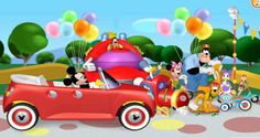 Mickey Mouse Clubhouse Road Rally Adventure Playhouse Disney Clubhouse Rally Raceway Game