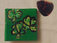 Handmade Clovers Magnet Shamrocks St. Patricks by YumJellyDonuts