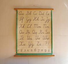 So perfect for a little one's room! // Cursive/Type Chart