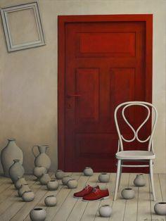 """""""hollow frame/1403"""" acrylic on canvas, 100 x 75, 2013"""