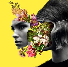 • Illustration art fashion Model portrait color collage digital art faces pop art asylum-art Marcelo Monreal asylum-art •