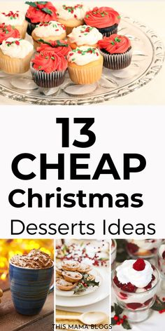 Are you looking for easy to make, cheap Christmas desserts ideas? Look no further! I've rounded up 13 beautiful easy to make and cheap Christmas desserts your family will surely love! cheap christmas desserts easy, Cheap Christmas desserts for a crowd, cheap christmas dessert ideas #holidays #christmasfoodideas Christmas Desserts Easy, Cheap Christmas, Christmas Treats, Christmas Recipes, Holiday Recipes, Christmas Holidays, Christmas Decorations, Desserts For A Crowd, Easy Desserts