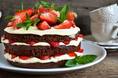 Cherry Lola Treatment, Bolos Naked Cake, Mini Cheesecake, Low Carb, Sweets, Desserts, Recipes, Food, Strawberries