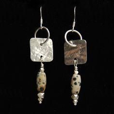 Dalmation Jasper Gemstone Earrings