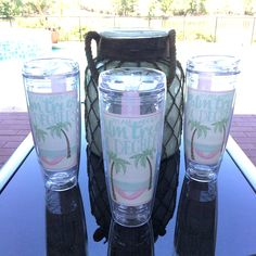 """Sipping some sweet tea in our new """"I'M ALL ABOUT PALM TREES AND 80 DEGREES"""" tumbler is southern to the core!!  Get yours today at southerngirlprep.com. ☀️ Southern Girl Prep"""