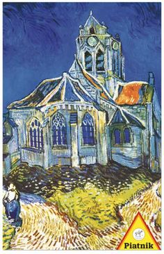 Van Gogh: The Church at Auvers - 1000pc Jigsaw Puzzle by Piatnik | SeriousPuzzles; $17