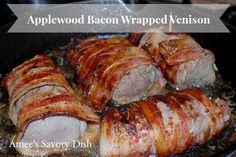 A mouthwatering recipe for tender and flavorful bacon wrapped venison loin with warm raspberry sauce on Amee's Savory Dish