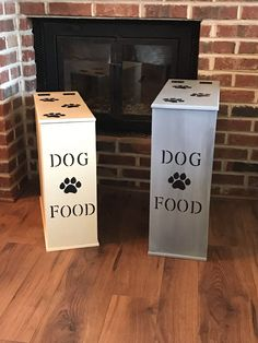 A personal favorite from my Etsy shop https://www.etsy.com/listing/511355747/dog-food-storage-dog-food-container-pet
