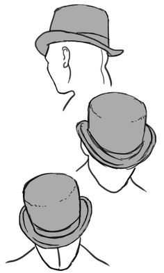 "chaiteawolf: "" anatoref: "" Hats R 1 & 2 Row 3 Row Left, Right R Left, Right "" Oooh good reference for Crowbar G's hat :D Since I suck at drawing hats lmao "" Drawing Reference Poses, Design Reference, Drawing Tips, Reference Images, Anatomy Drawing, Manga Drawing, Arte Black, Poses References, Gesture Drawing"