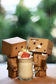 Danbo . . .Hot chocolate