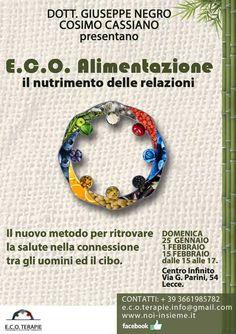E.C.O. #Alimentazione il 1° Incontro domenica 25 gennaio 2015 a #Lecce (Le)